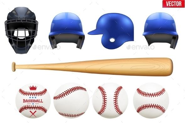 Set of Baseball Equipment - Sports/Activity Conceptual