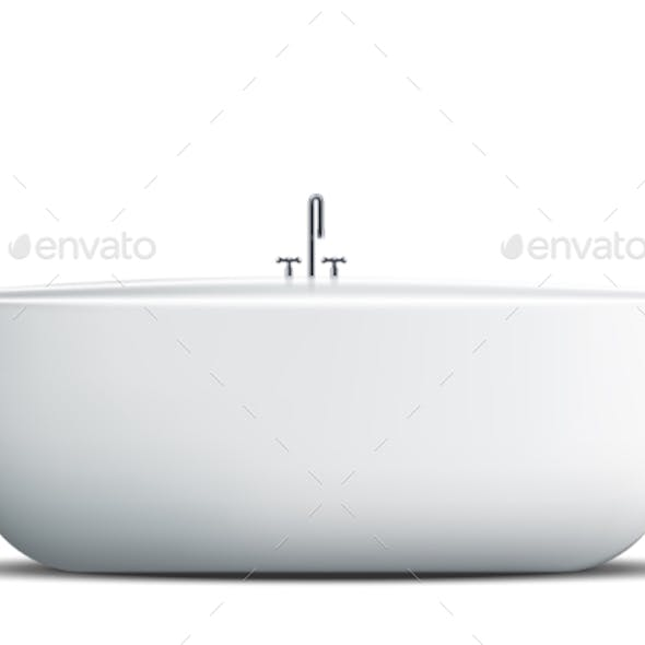 Modern Bath Isolated