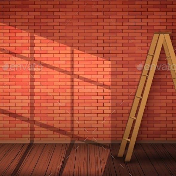 Red Brick Wall Texture Closeup
