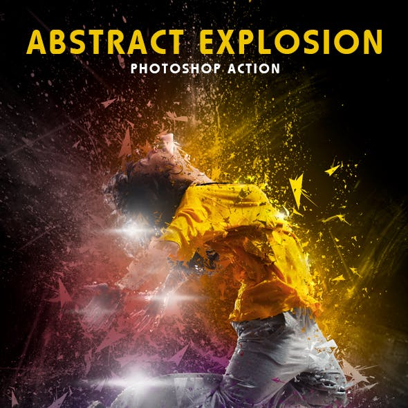 Abstract Explosion Photoshop Action