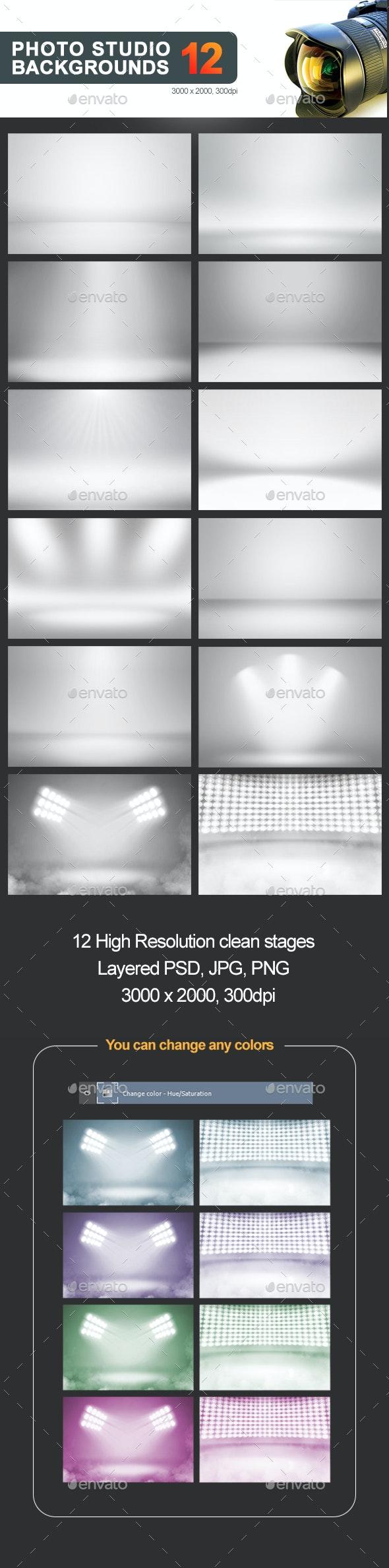 12 Infinite White Floor Spotlight Backgrounds - Backgrounds Graphics