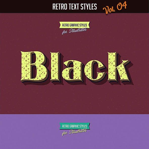 10 Retro Text Styles vol. 04