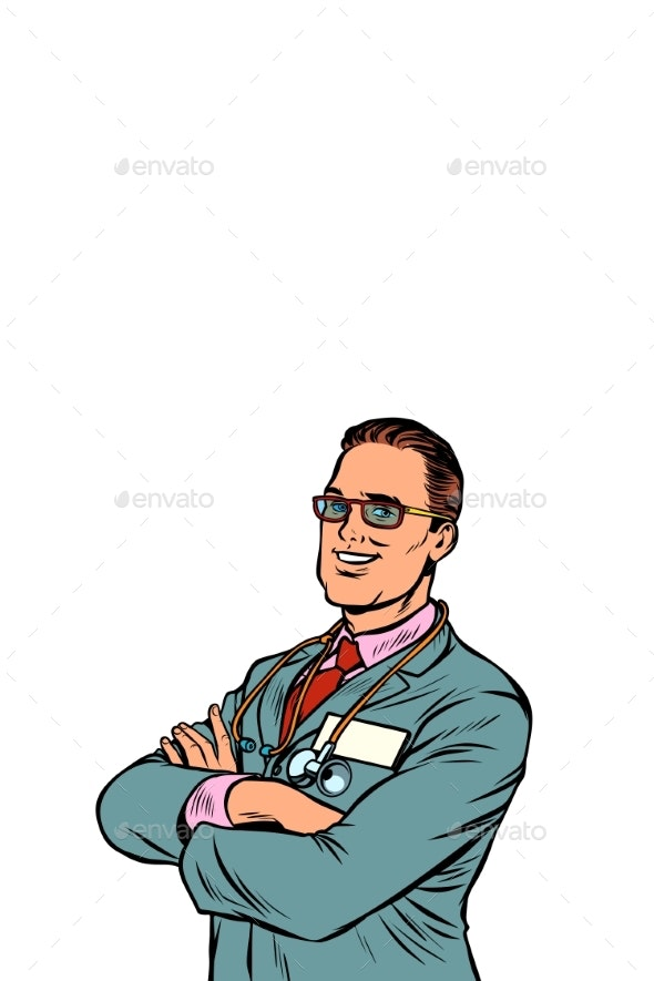 Confident Businessman Crossed His Arms - People Characters