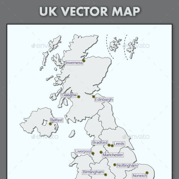 Map Of Uk Template.Uk Map Graphics Designs Template From Graphicriver