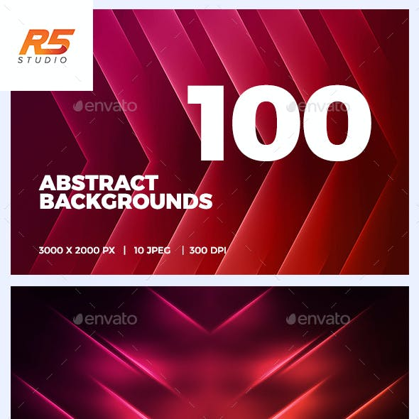 100 Abstract Background Bundle