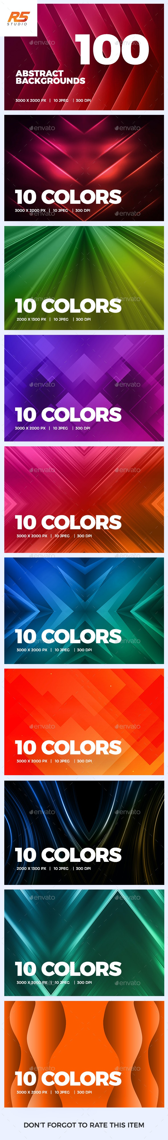 100 Abstract Background Bundle - Abstract Backgrounds