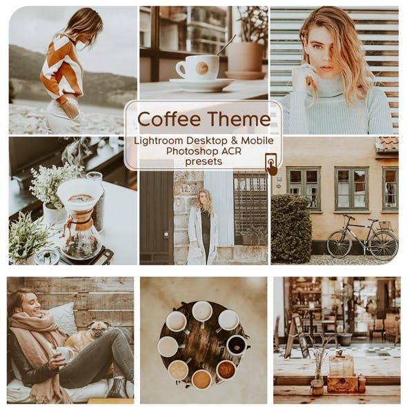 Coffee Theme Lightroom Desktop and Mobile Presets