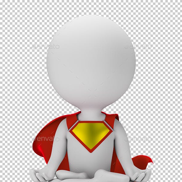 3D Small Superhero - Levitation