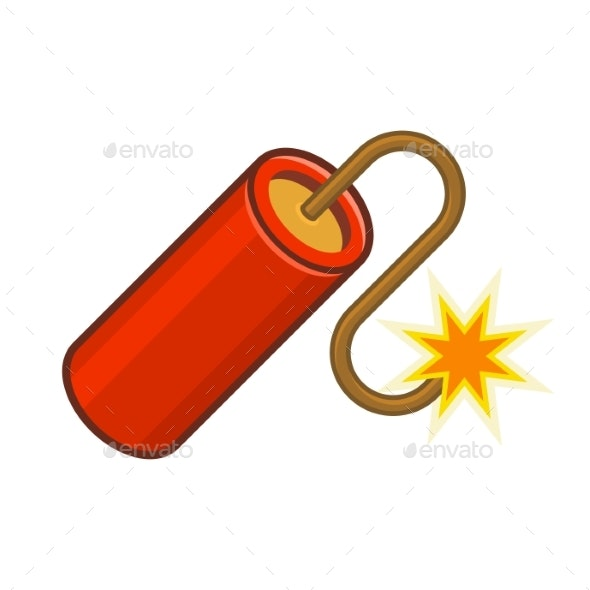 Dynamite TNT Icon on White Background - Miscellaneous Vectors