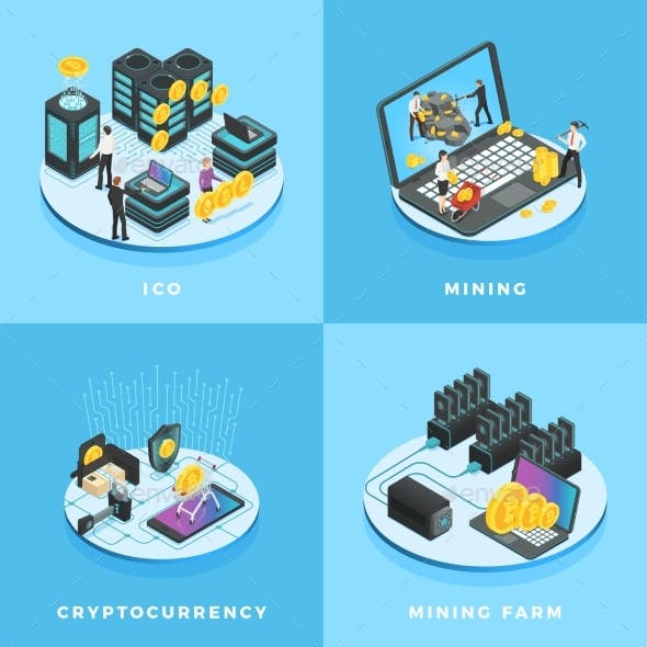 Cryptocurrency Illustration. Electronic Money