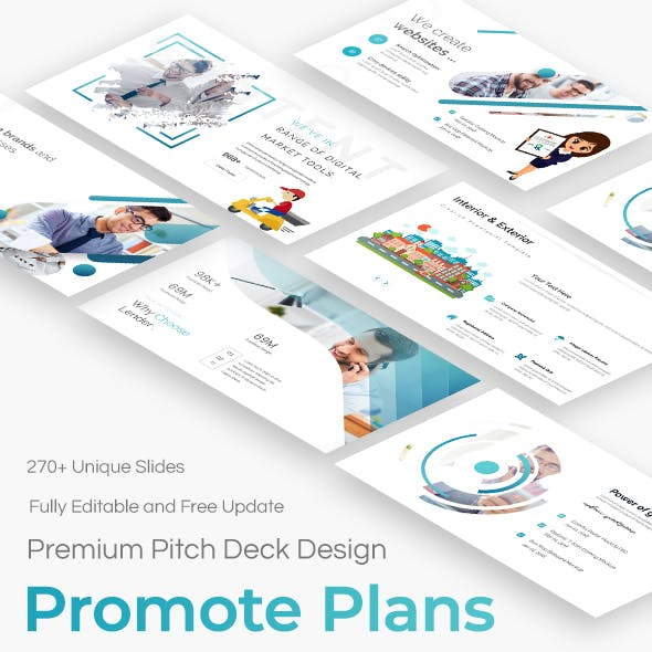 Promote Plans Pitch Deck Powerpoint Template