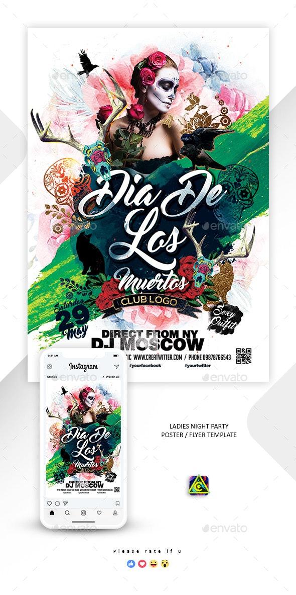 Dia De Los Muertos Flyer / Poster - Clubs & Parties Events