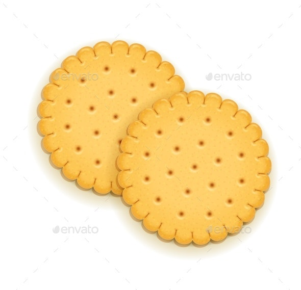 Two Round Biscuits - Food Objects