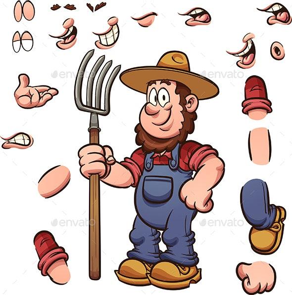 Cartoon Farmer - People Characters