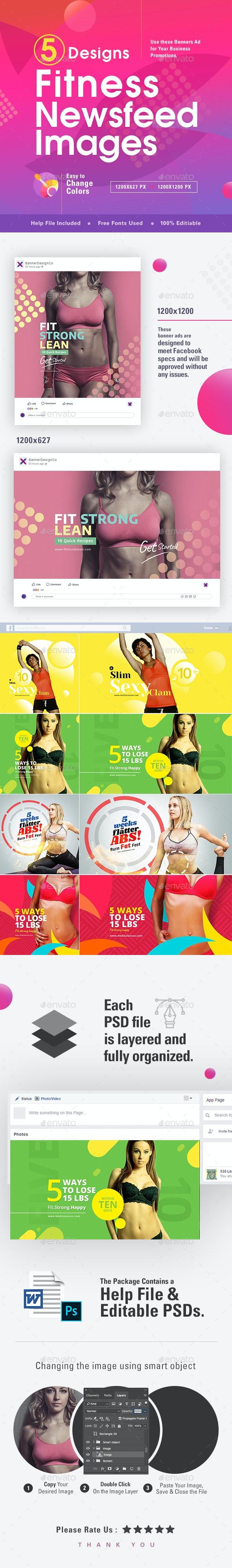 Fitness Social Media Banners - 10 Designs - Miscellaneous Social Media