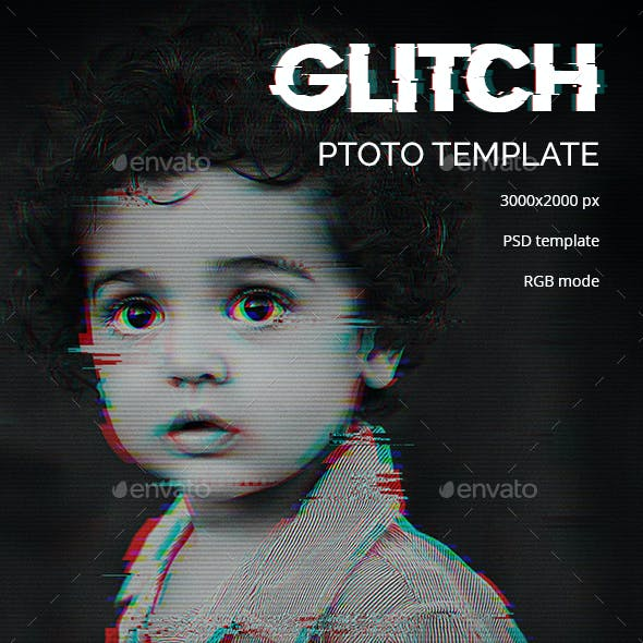 Glitch Photo Template