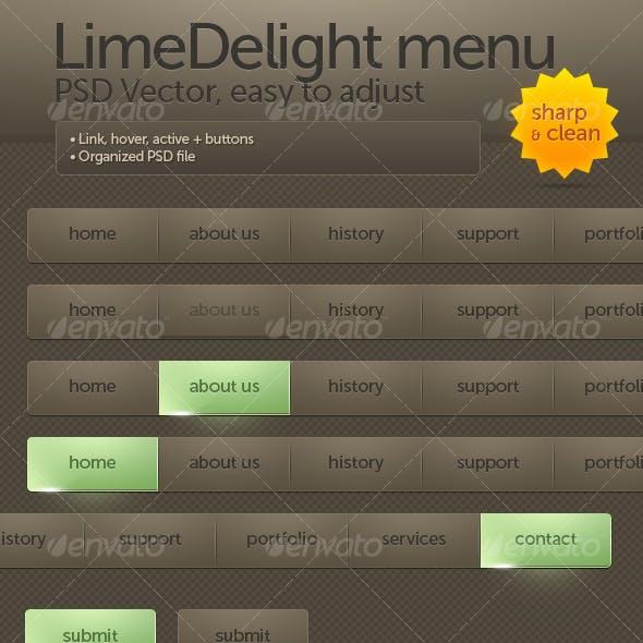 LimeDelight menu