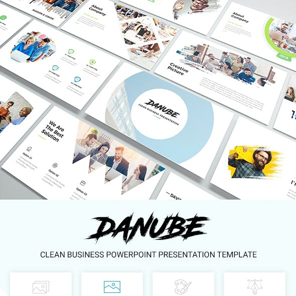 Danube - Clean Business Powerpoint Presentation Template