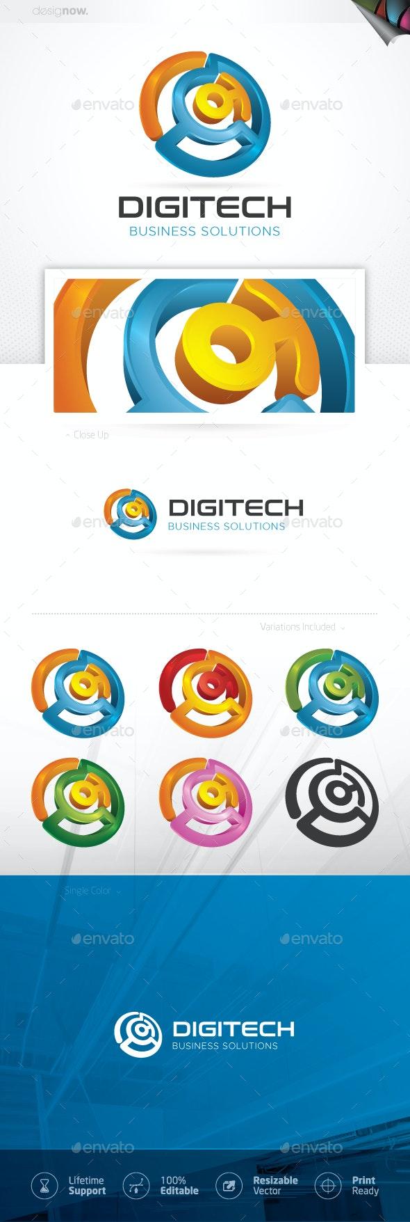 Digital Technology Logo - Symbols Logo Templates