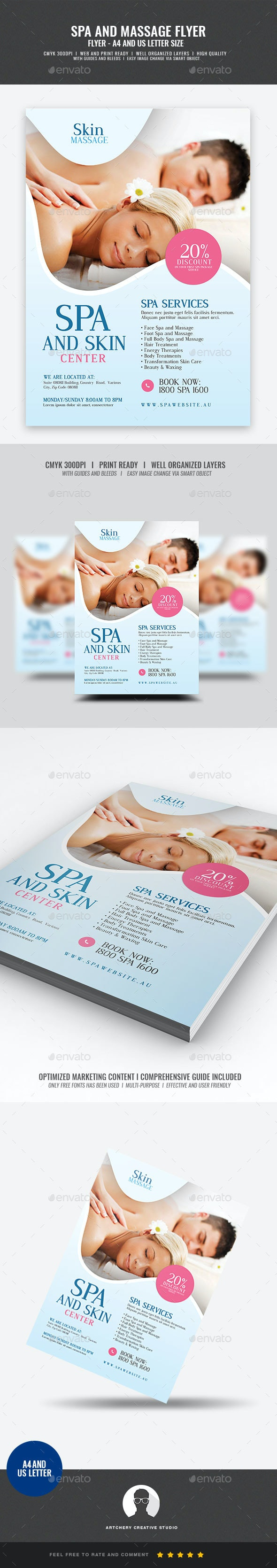 Spa and Massage Flyer - Corporate Flyers