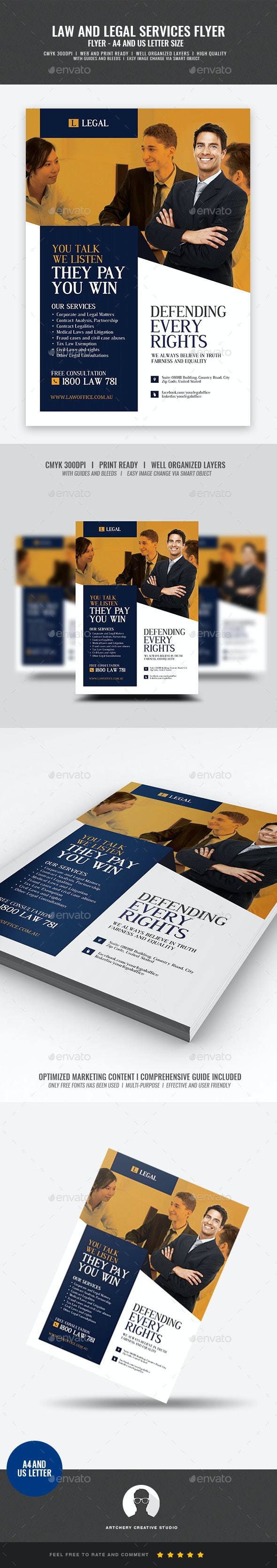 Legal and Law Services Flyer - Corporate Flyers