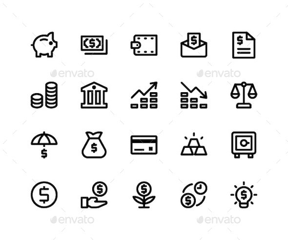 Financial Line Icons - Icons