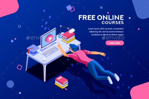 Free Online Courses Template - Web Technology