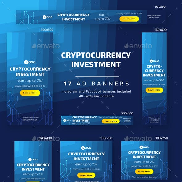 Cryptocurrency Investment Ad Banners