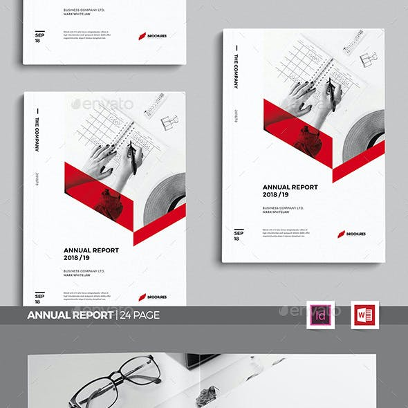 Sharp Annual Report, Word Annual Report Template