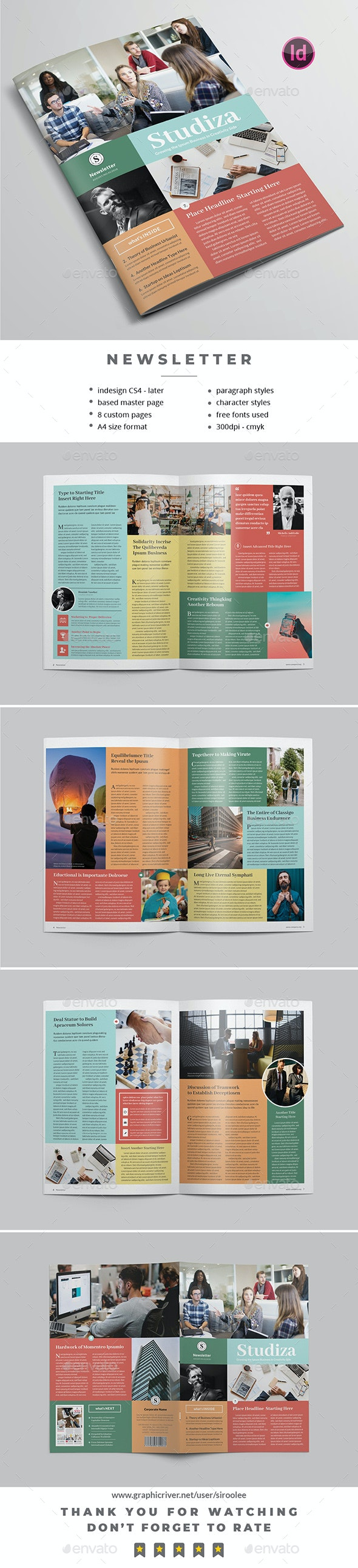Multipurpose Newsletter v.08 - Newsletters Print Templates