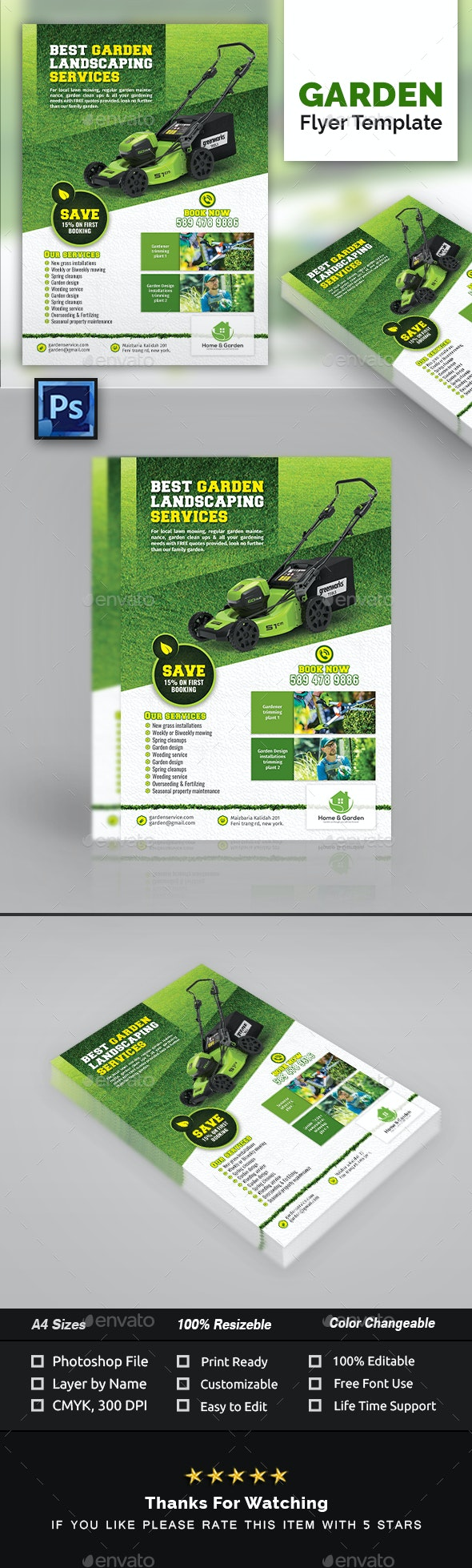 Garden Landscape Flyer Template - Commerce Flyers