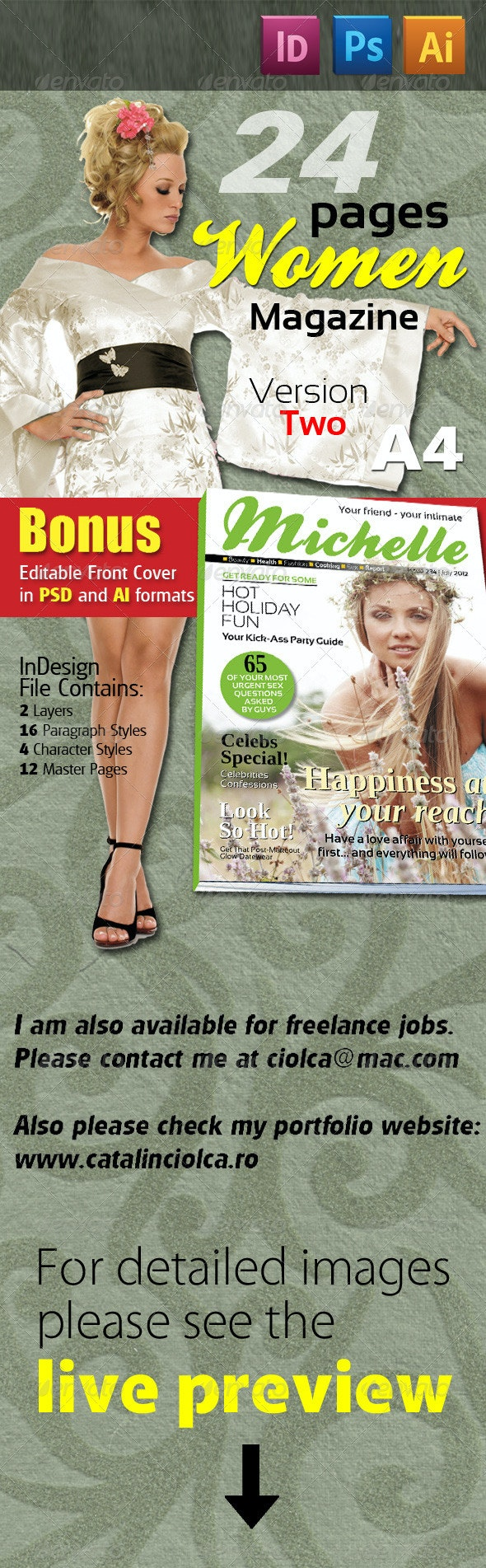 24 Pages Women Magazine Version Two - Magazines Print Templates