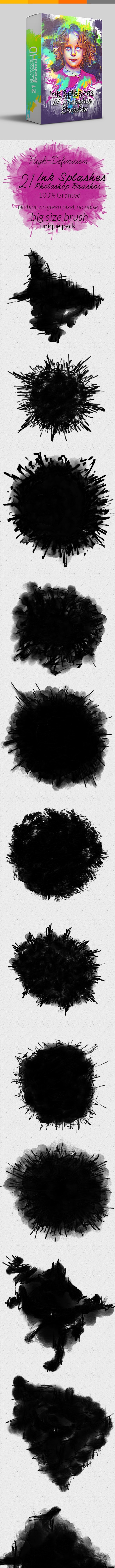 Ink Splashes Photoshop Brushes - Brushes Photoshop