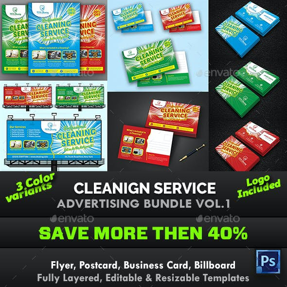 Cleaning Service Advertising Bundle Vol.1