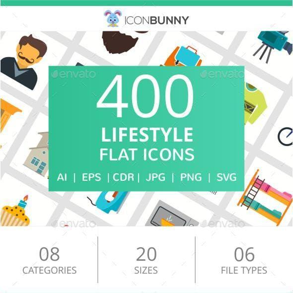 400 Lifestyle Flat Icons