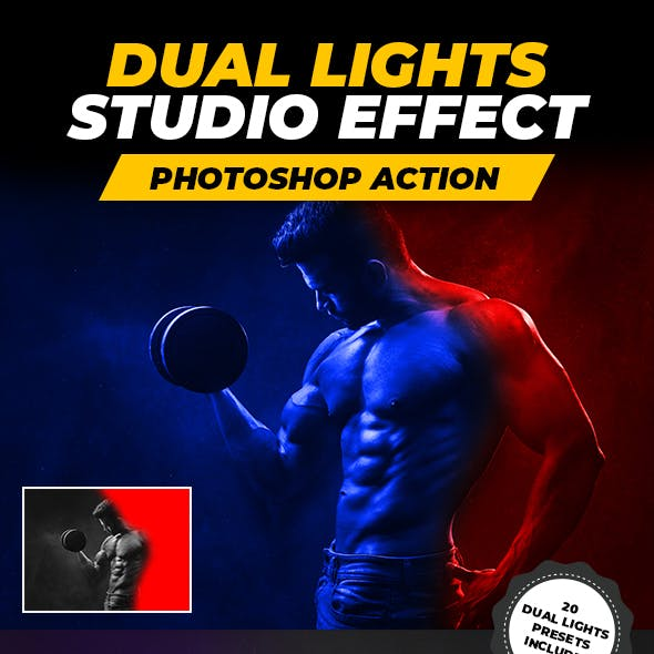 Dual Lights Studio Effect - Photoshop Action