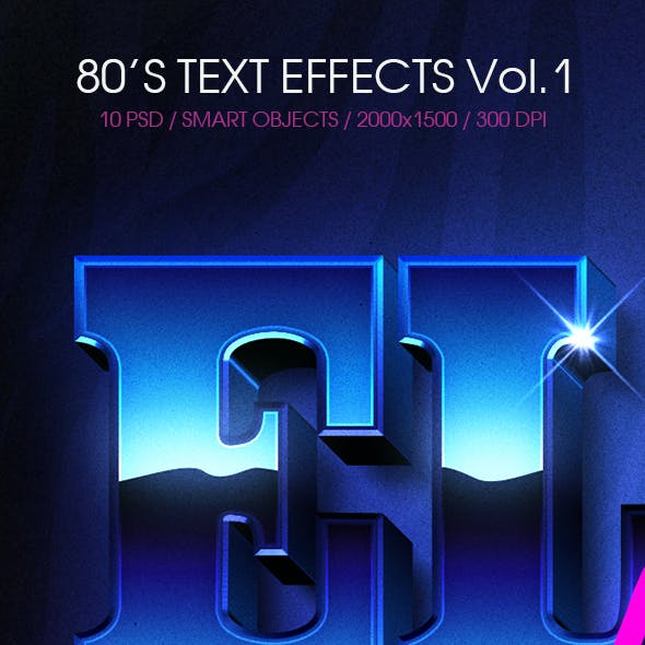 80's Text Effects Vol.1