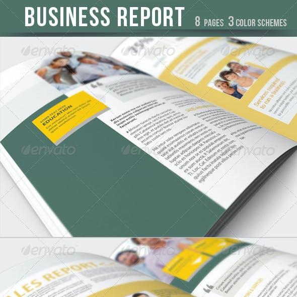 Business Report - Brochure - 3 Color Schemes