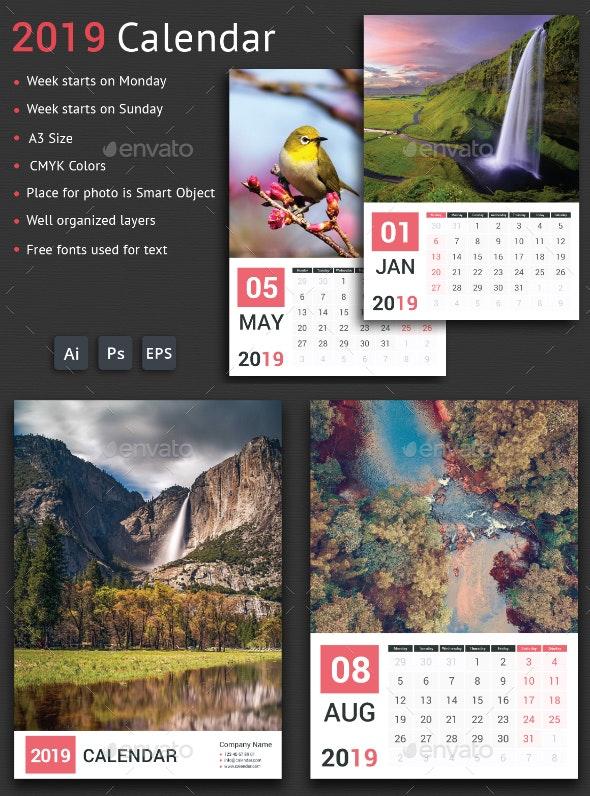 2019 Calendar - Calendars Stationery