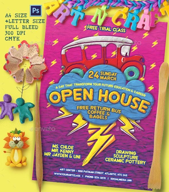 Open House Elastic Flyer Template - Flyers Print Templates