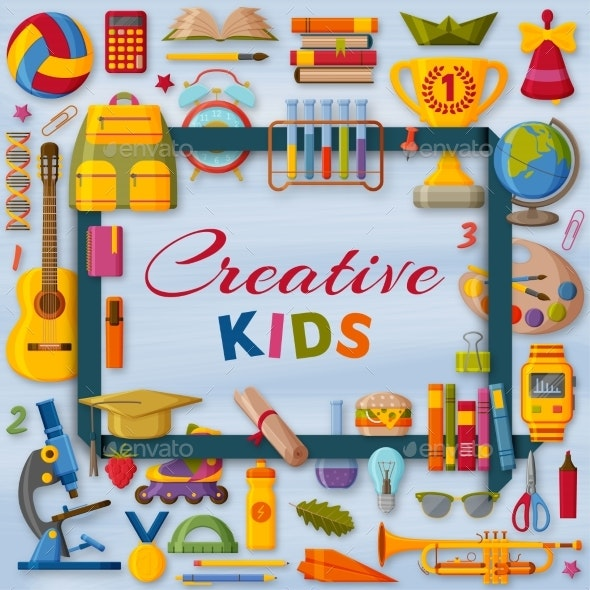 Creative Kids Background - Miscellaneous Vectors