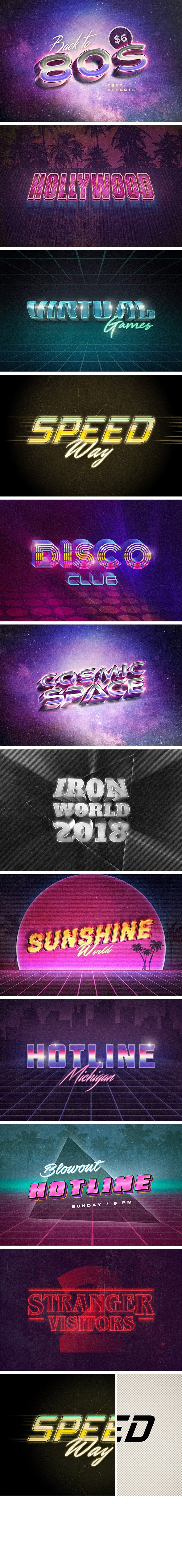 Back to the 80s Retro Text Effects - Text Effects Actions