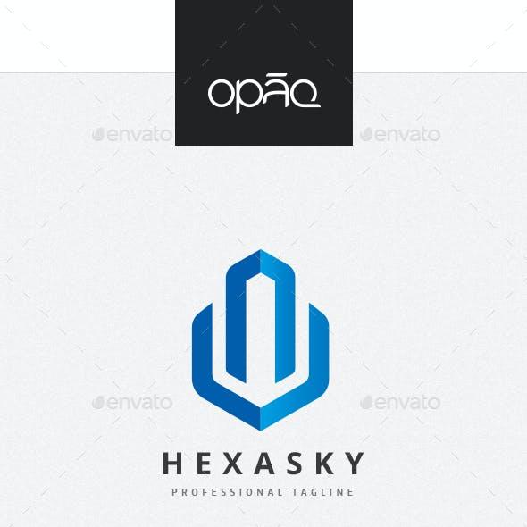 High Block Hexagon Logo