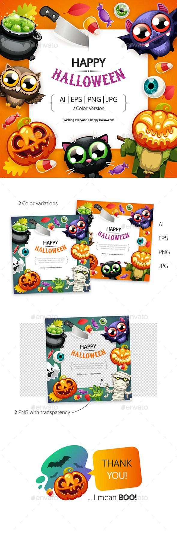 Happy Halloween BG with Copy Space - Halloween Seasons/Holidays