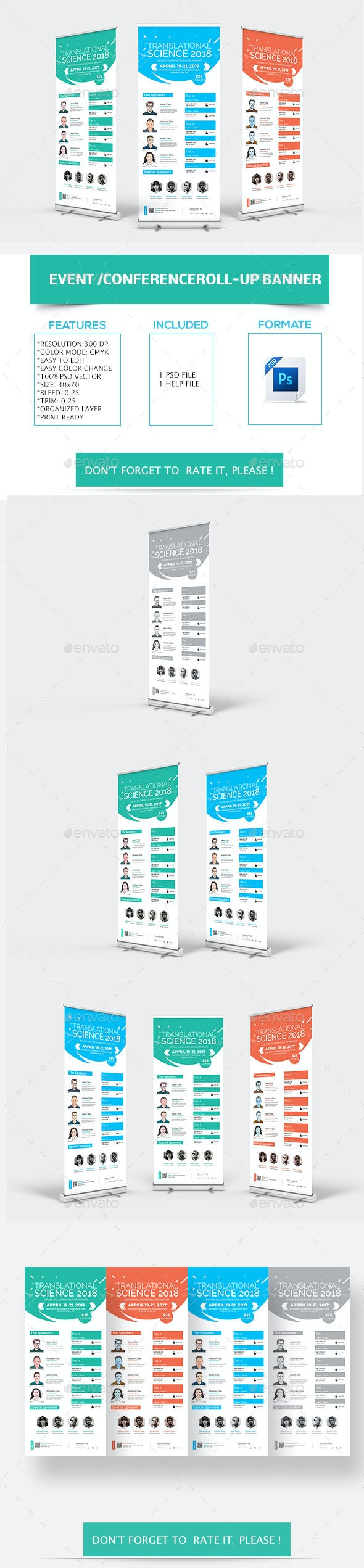 Event Conference Roll-up Banner - Signage Print Templates