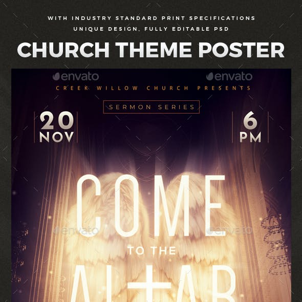 Church Themed Event Poster - The Altar