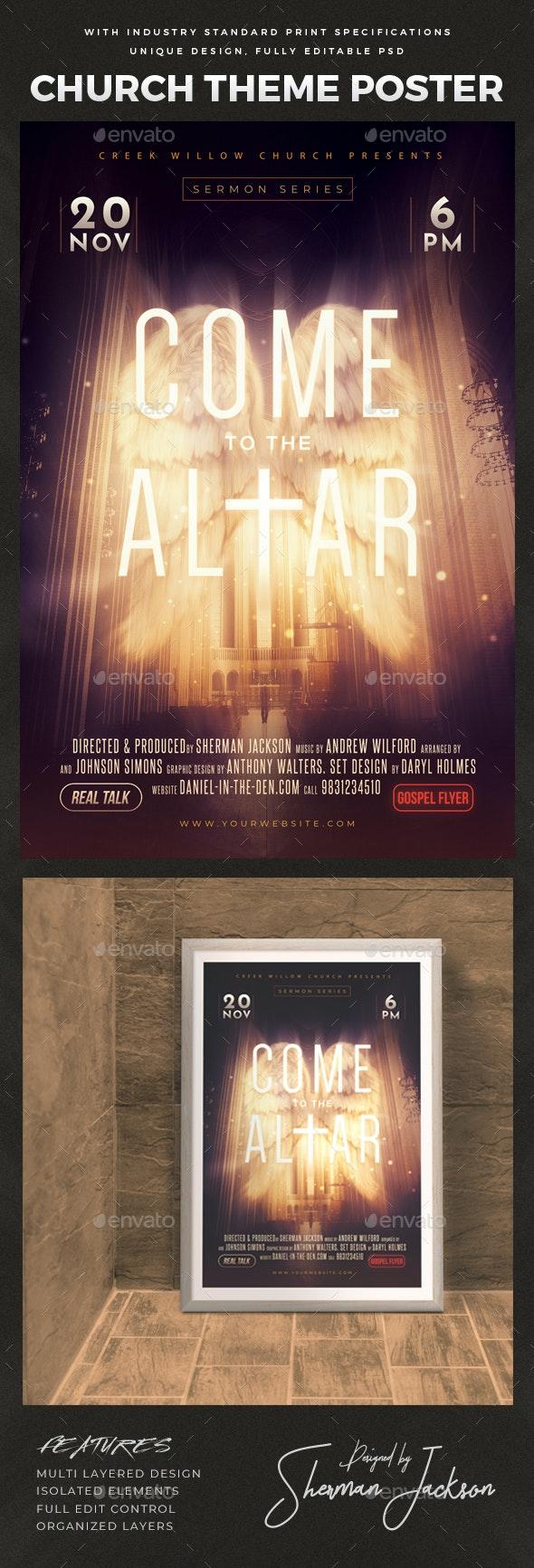Church Themed Event Poster - The Altar - Church Flyers