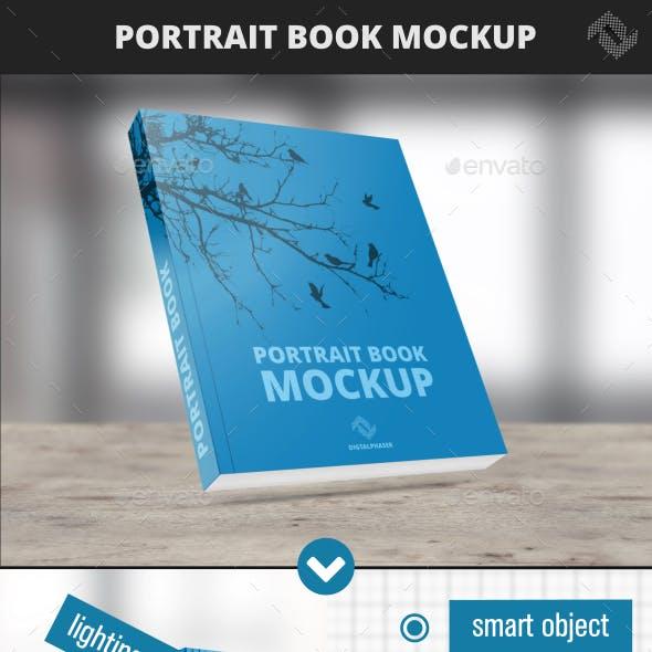 Portrait Soft Cover Book Mockup