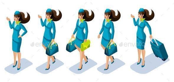 Flight Attendant - People Characters