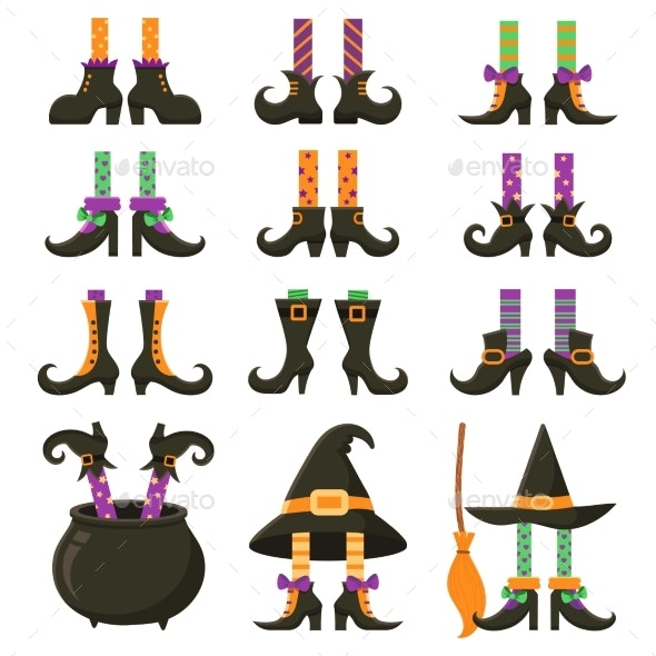 Scary Witch Legs. Halloween Witches Leg Stockings - Halloween Seasons/Holidays